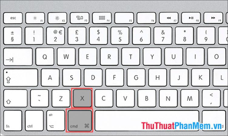 Phím tắt Cut trên MAC OS