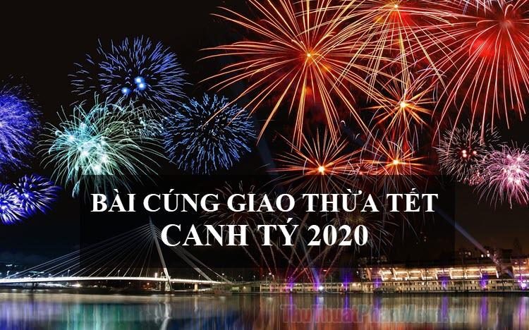 Bài cúng giao thừa Tết Canh Tý 2020