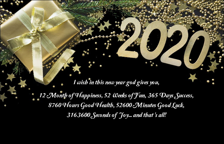 I wish in this new year god gives you, 12 Month of Happiness, 52 Weeks of Fun