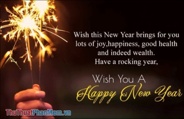 Wish this New Year brings for you lots of joy, happiness, good health and indeed wealth