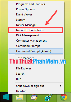 Chọn Network Connections