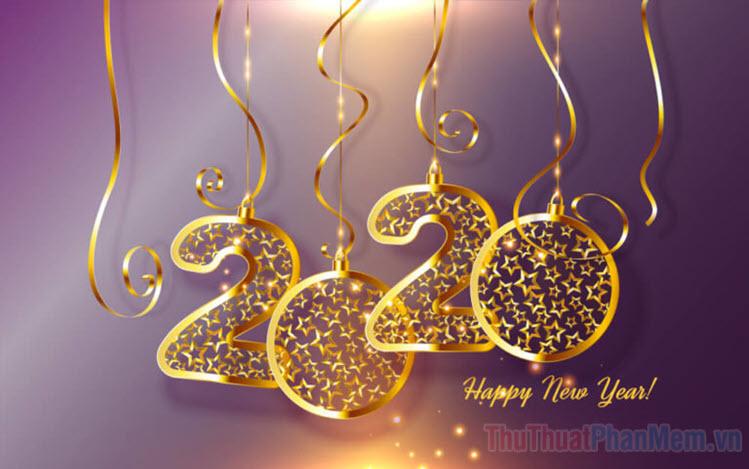 Hình nền chúc mừng năm mới 2020 cực đẹp