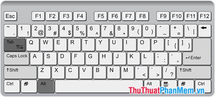 Sử dụng phím tắt Alt + Tab