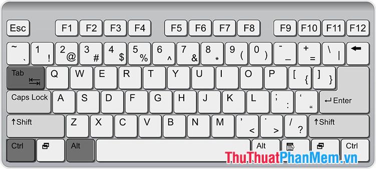 Sử dụng phím tắt Ctrl + Alt + Tab
