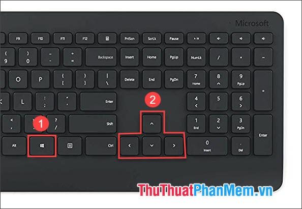 Sử dụng phím Windows + phím điều hướng