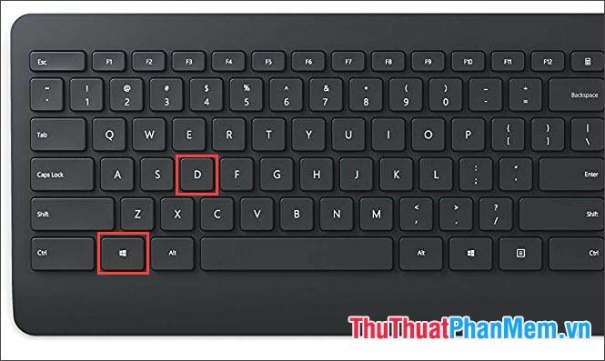Thu nhỏ, phóng to cửa sổ với phím tắt Windows + D