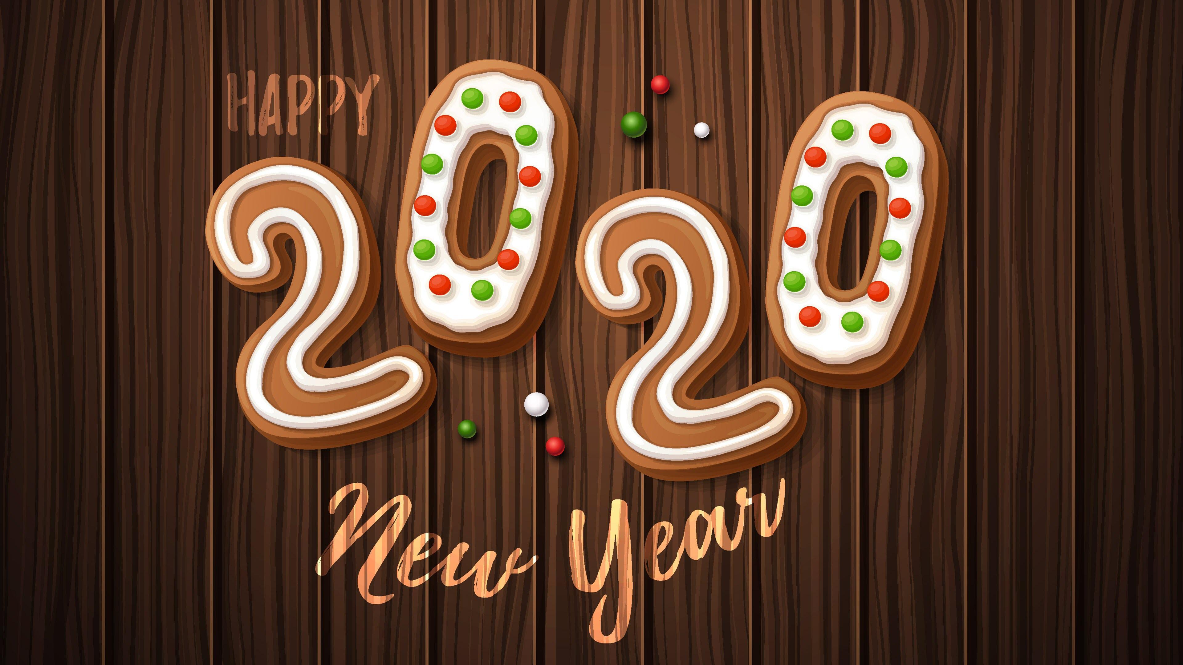 Hình nền 4K mừng năm mới 2020