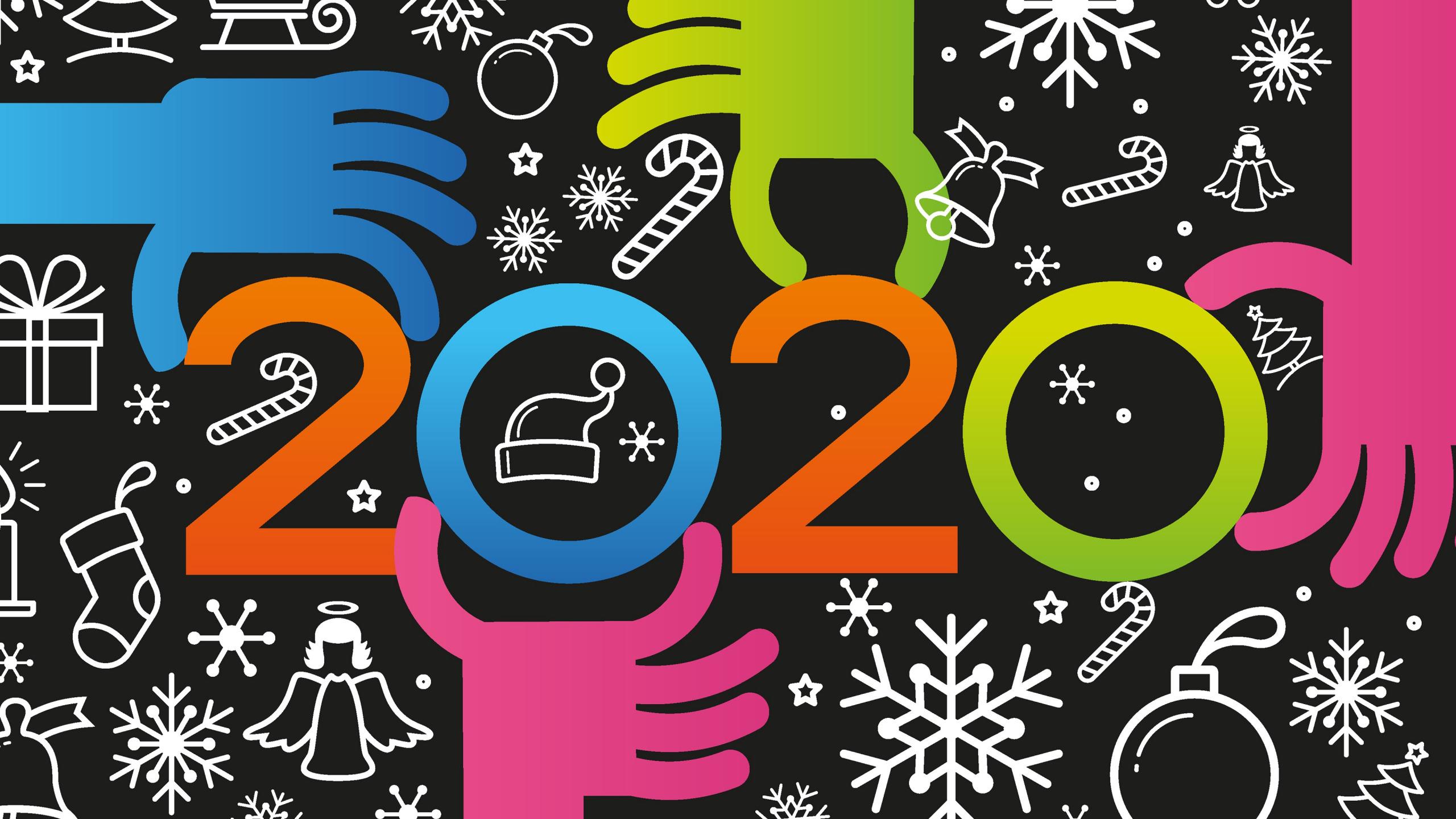 Hình nền cho năm mới 2020