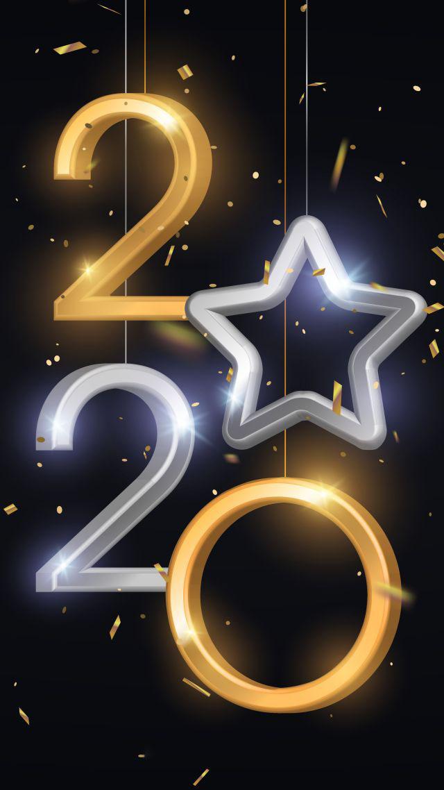 Hình nền chúc mừng năm mới 2020 cho iphone