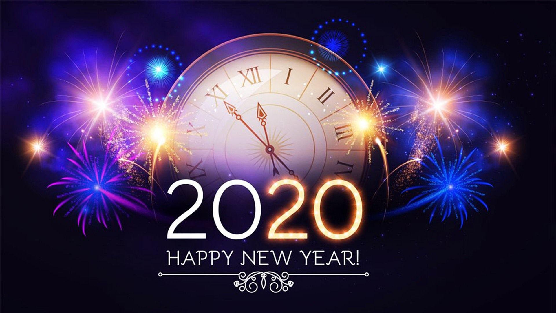 Hình nền chúc mừng năm mới 2020 full hd