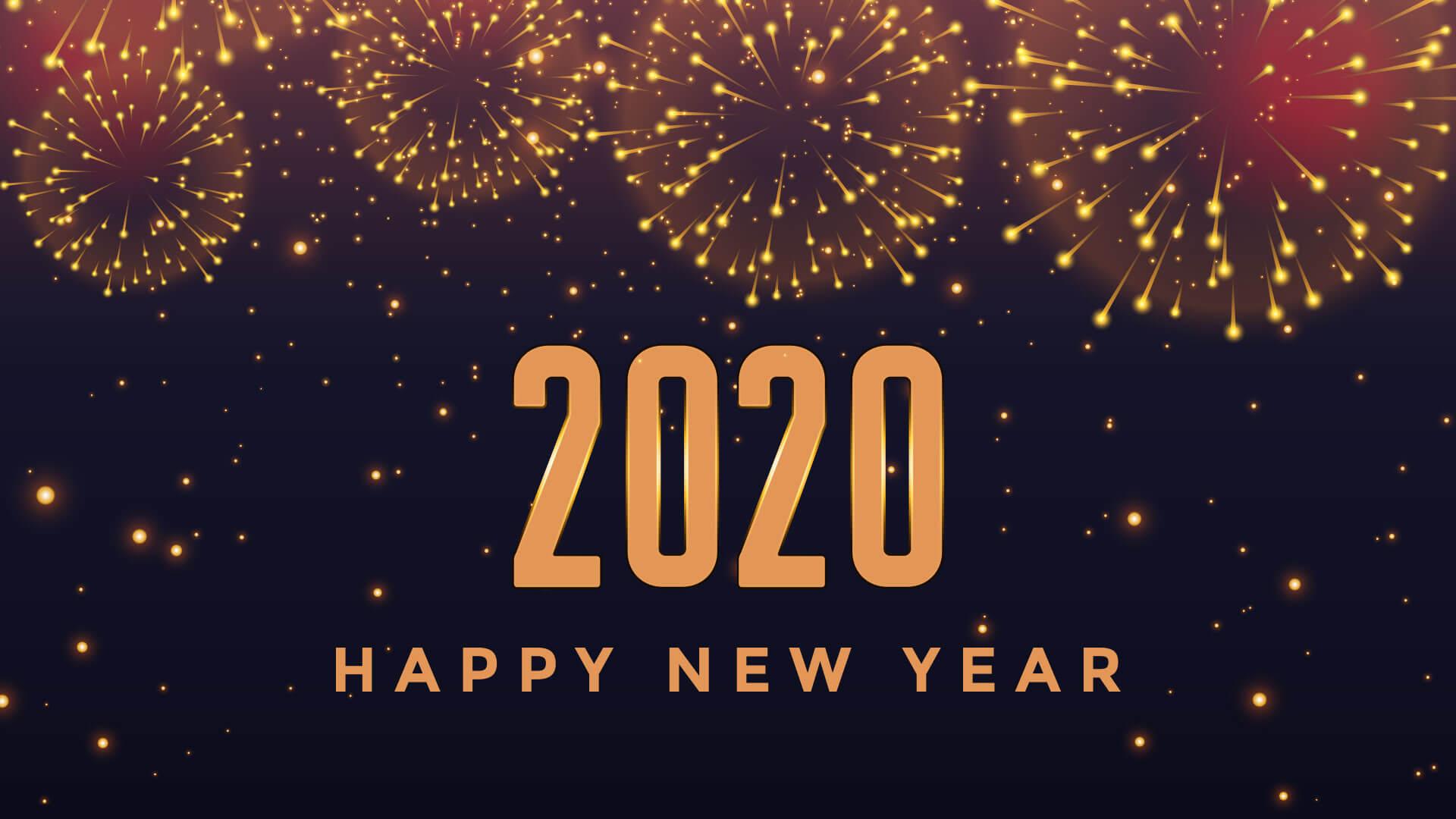 Hình nền đẹp cho pc chúc mừng năm mới 2020