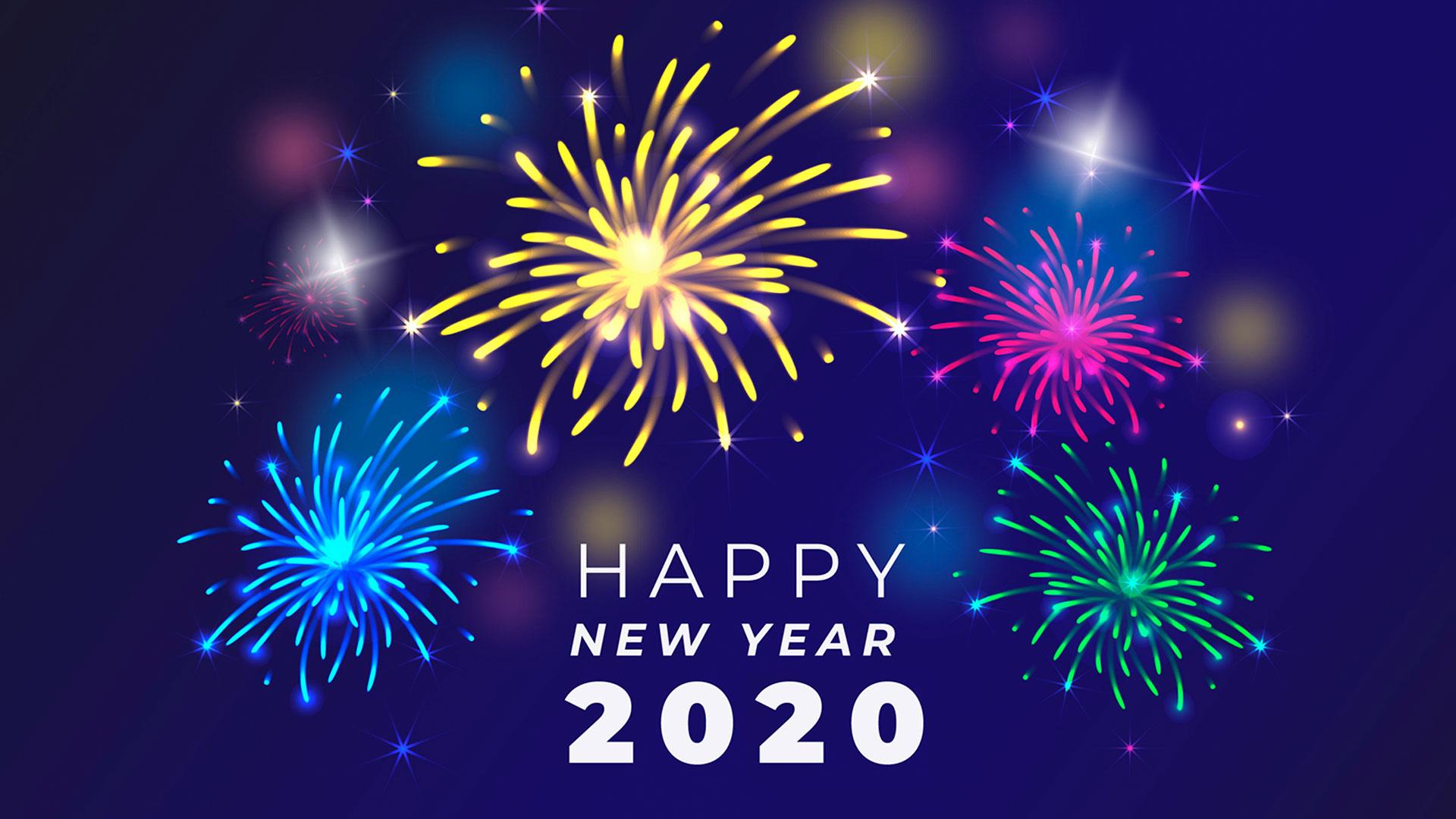 Hình nền đẹp chúc mừng năm mới 2020