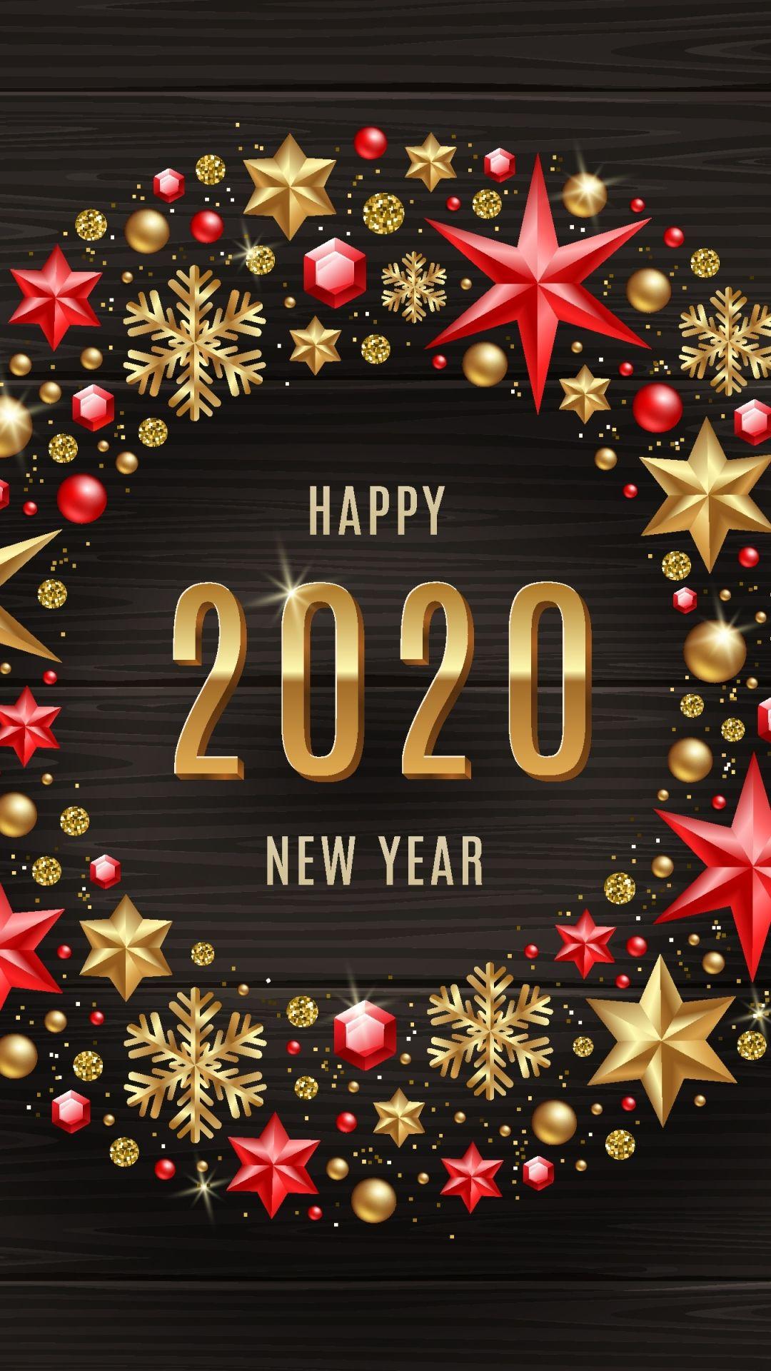 Hình nền điện thoại chúc mừng năm mới 2020 full hd