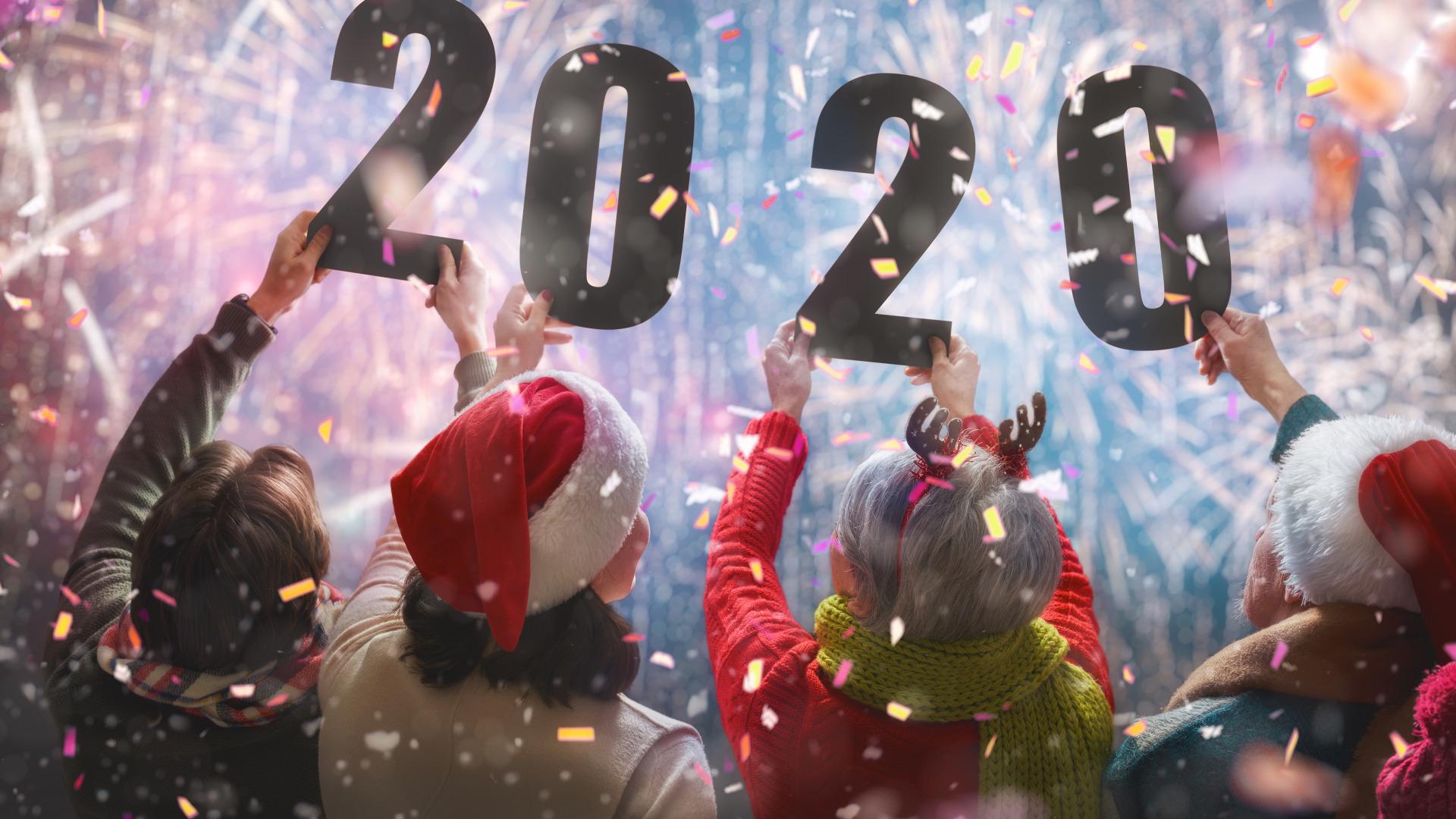 Hình nền đón chào năm mới 2020