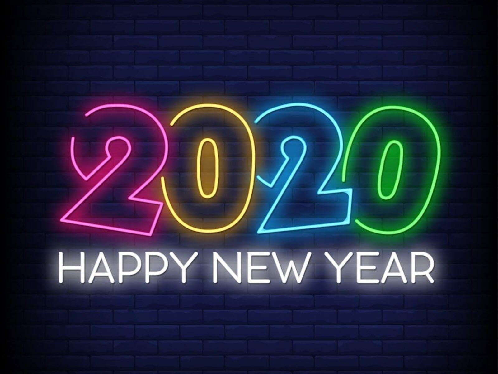 Hình nền máy tính chúc mừng năm mới 2020