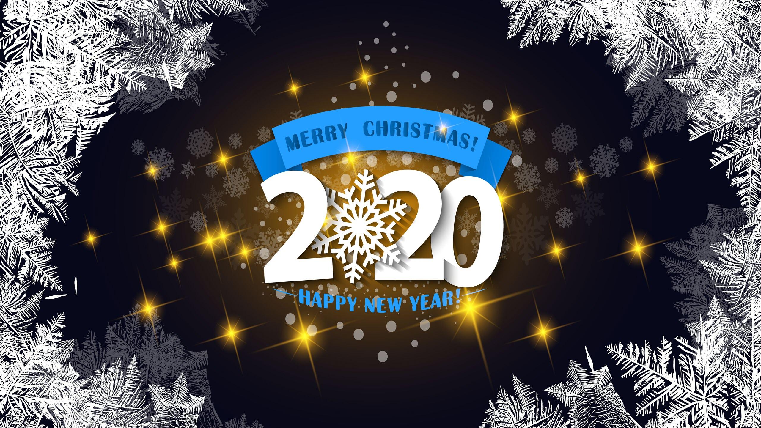 Hình nền mừng giáng sinh & năm mới 2020
