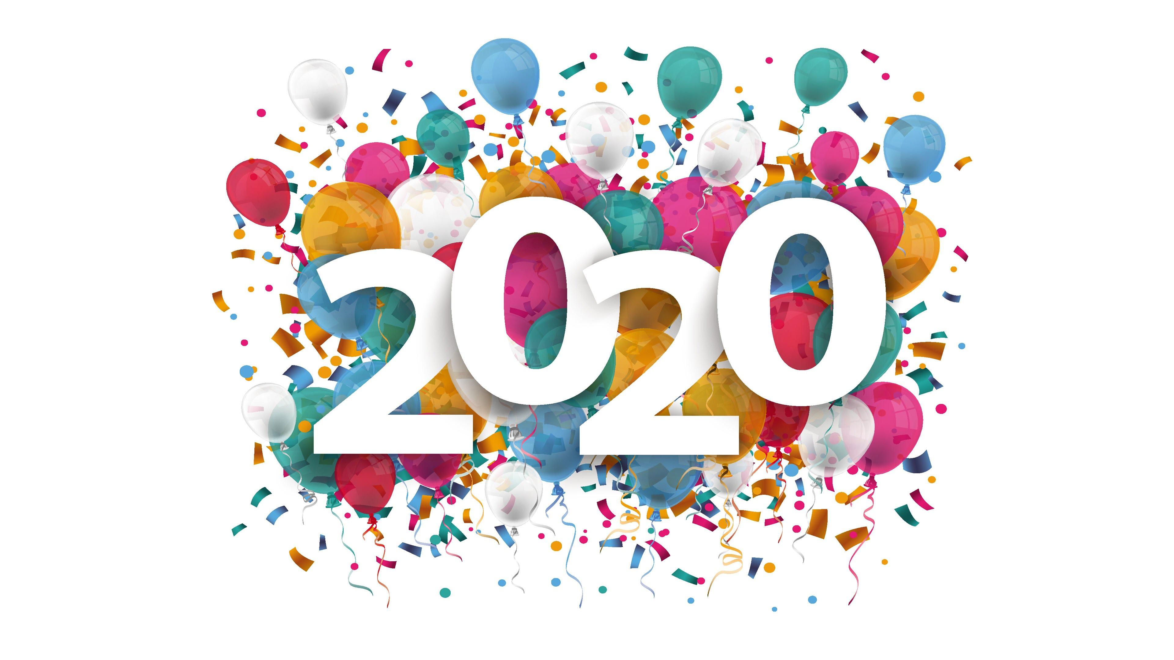 Hình nền mừng năm mới 2020 4K