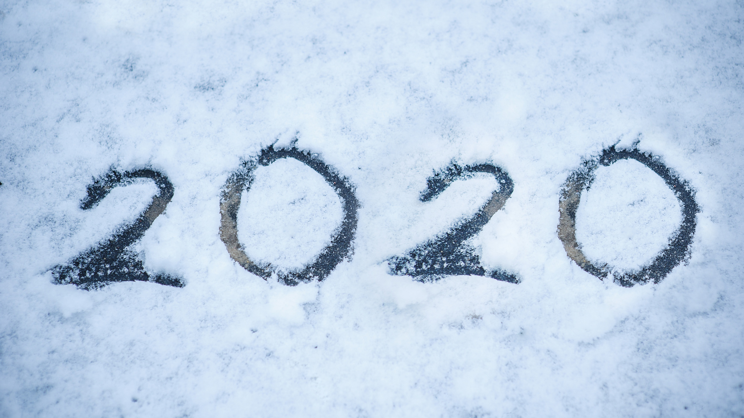 Hình nền năm mới 2020 đơn giản, độc đáo
