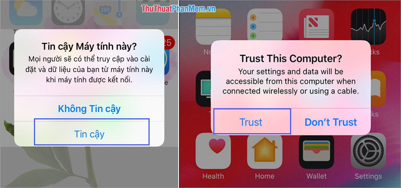 Cấp quyền truy cập trên iPhone