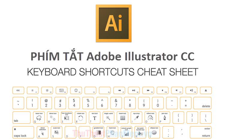 Phím tắt trong Illustrator thường dùng, phím tắt thường dùng trong AI