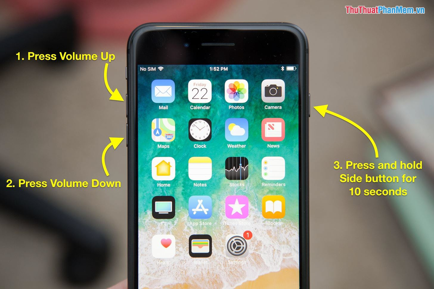 Restart cứng iPhone