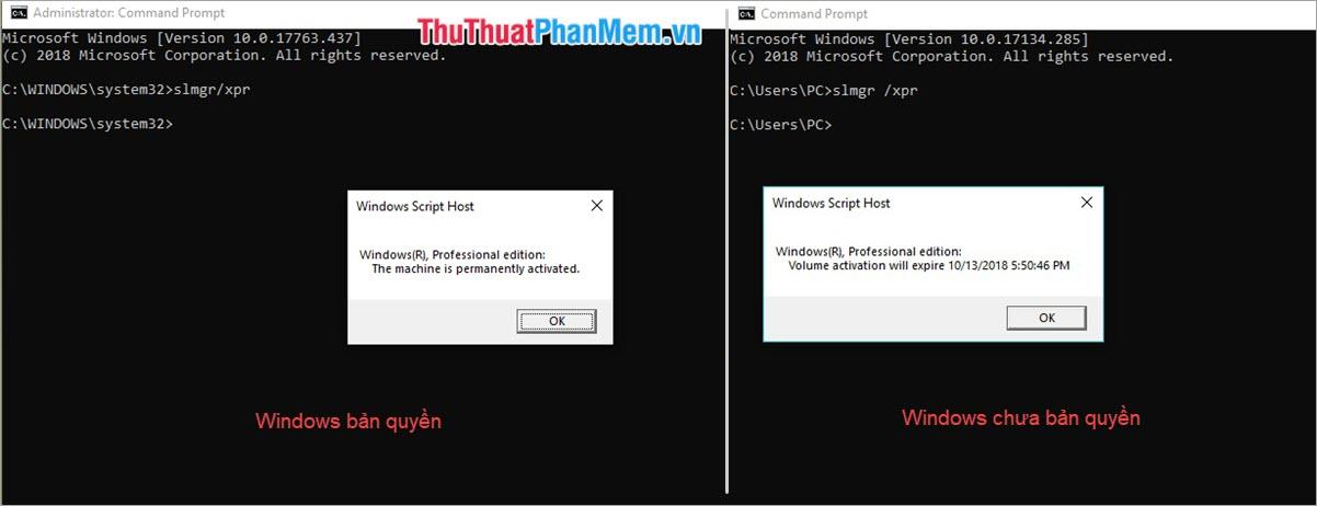 Thông báo trạng thái Windows Script Host