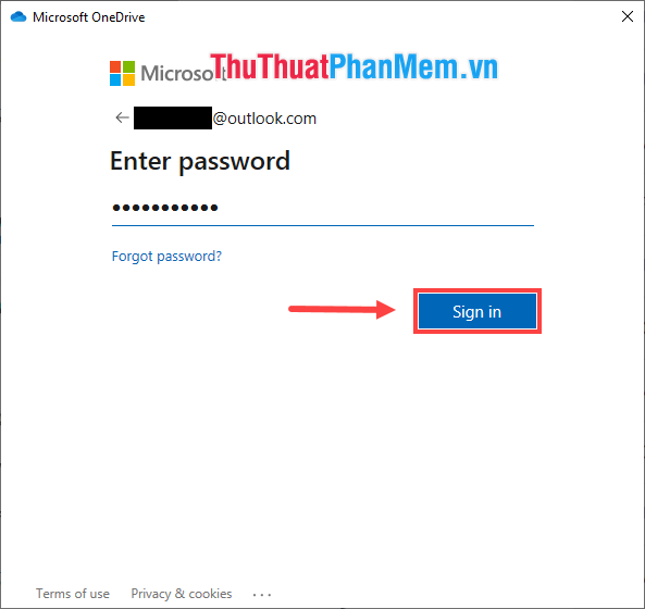 Đăng nhập bằng tài khoản Microsoft