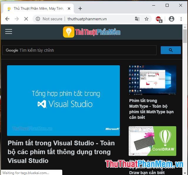 Bạn thử truy cập trang web bất kì và trài nghiệm tính năng Dark mode trên Chrome