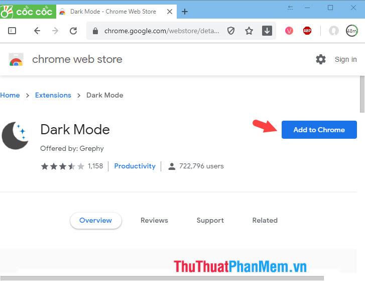 Chọn Add to Chrome