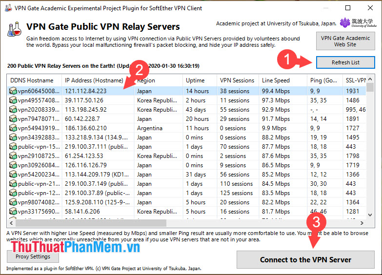 Chọn Connect to the VPN Sever