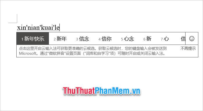 Sau khi cài xong, các bạn có thể sử dụng bàn phím để gõ tiếng Trung thông qua phiên âm pinyin