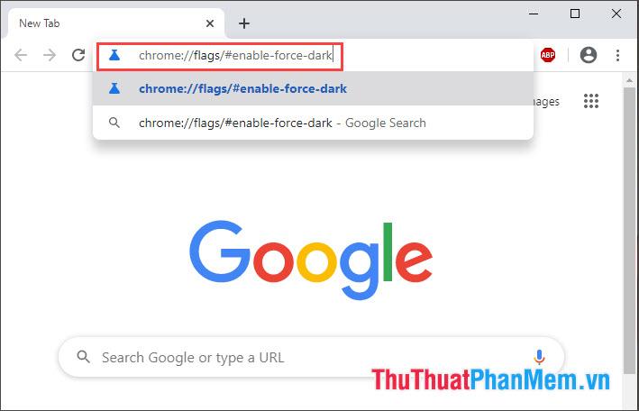 Truy cập địa chỉ trình duyệt Chrome