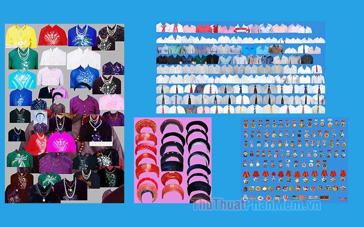 Mẫu áo ảnh thẻ đẹp PSD - File PSD ghép ảnh thẻ