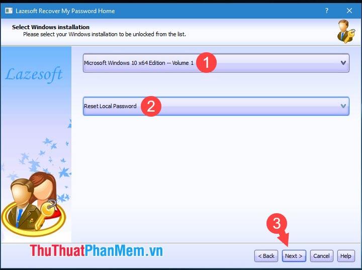 Chọn Reset Local Password