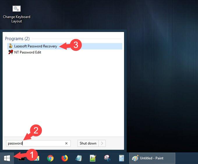 Click vào chương trình Lazesoft Password Recovery