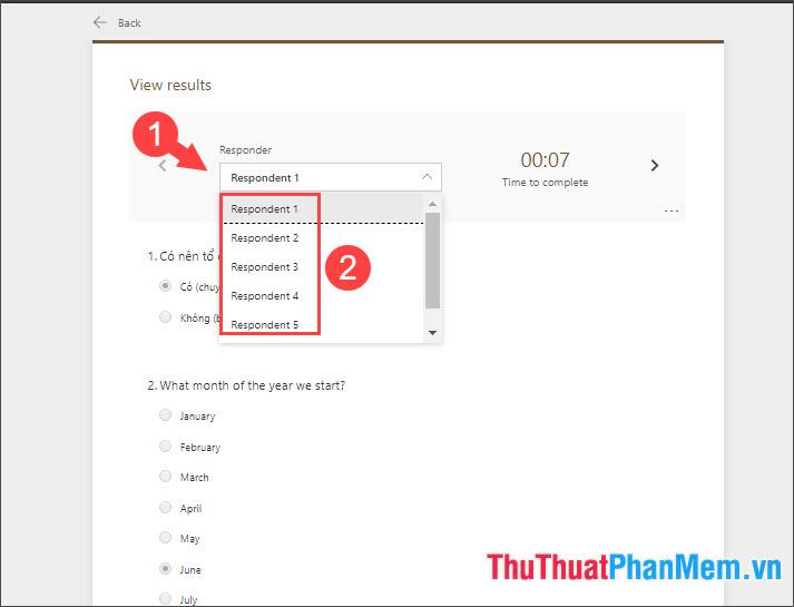 Click vào mục Responder và chọn các Responder theo thứ tự 1,2,3