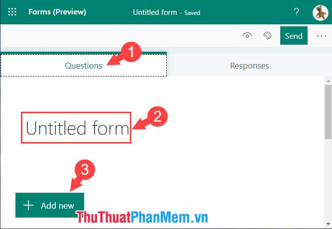 Đặt tên cho tiêu đề Form và bấm Add new