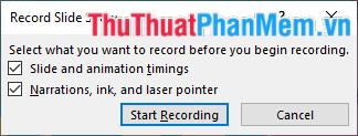 Đánh dấu tất cả và nhấn Start Recording