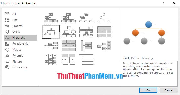Bạn có thể lựa chọn các mẫu có sẵn của Excel để vẽ lưu đồ