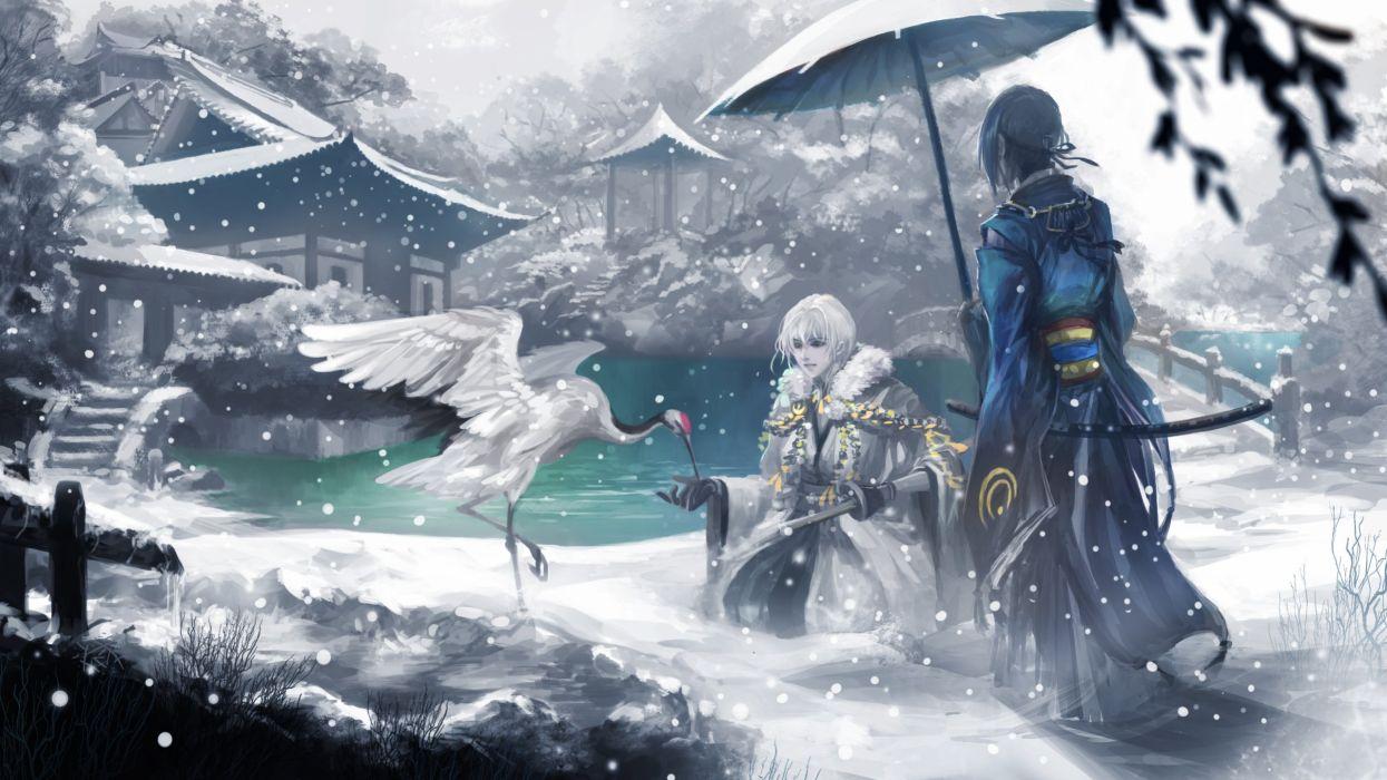 Hình ảnh anime tuyết rơi
