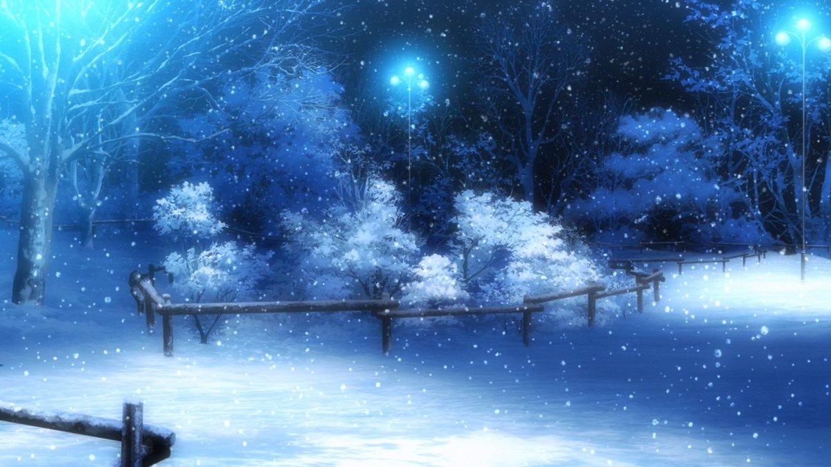 Hình ảnh hoạt hình tuyết rơi đẹp