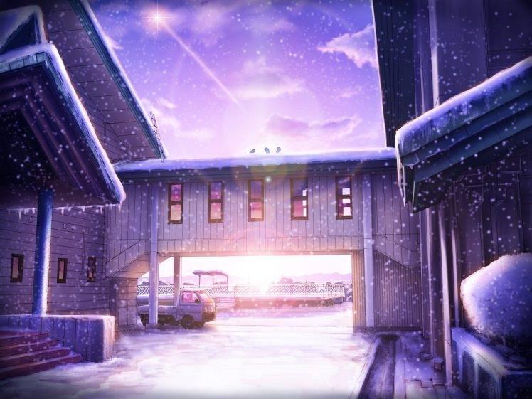 Hình ảnh tuyết rơi anime