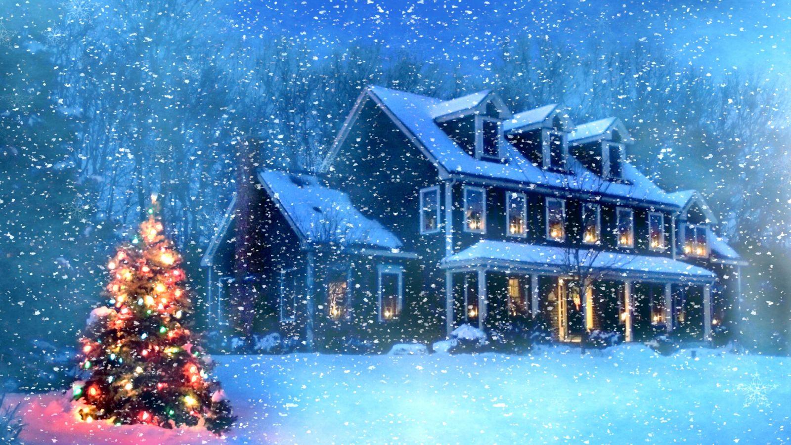 Hình ảnh tuyết rơi đêm giáng sinh