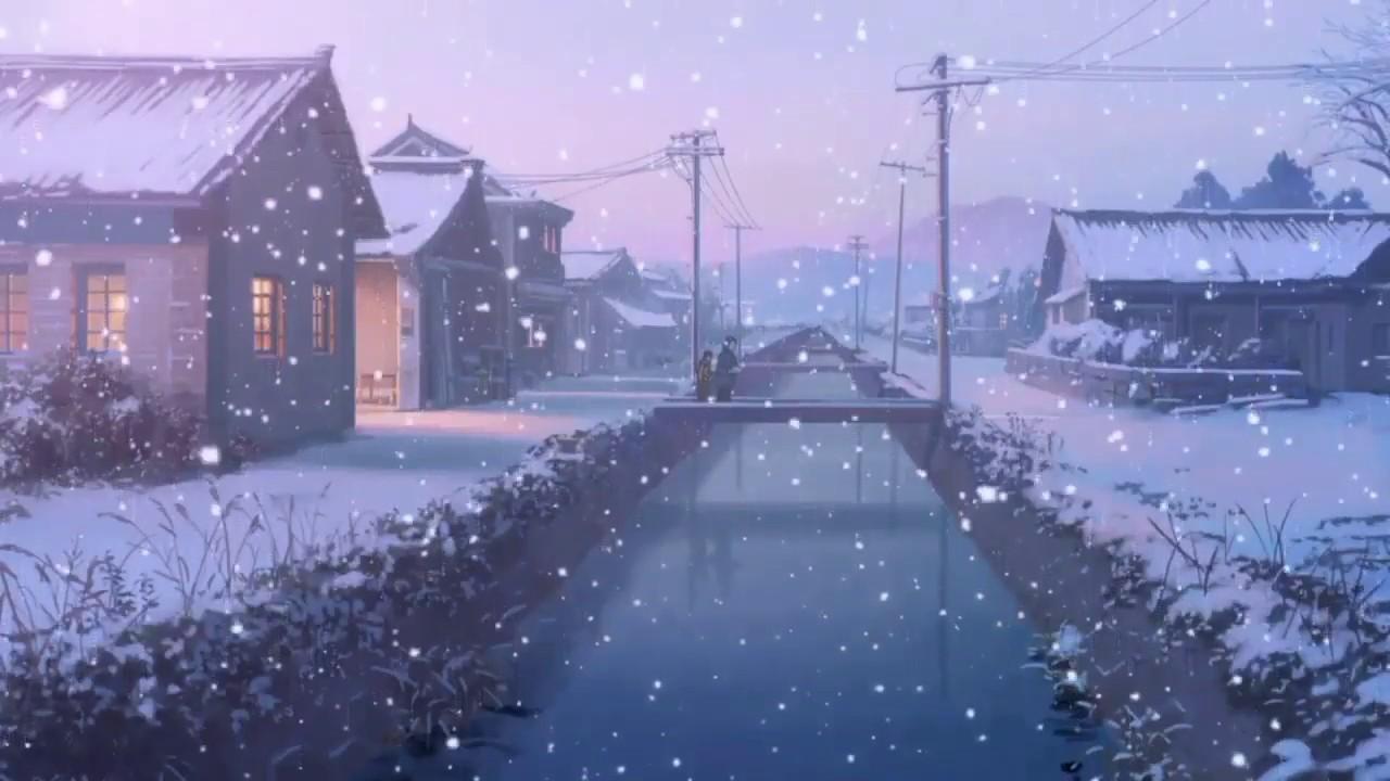 Hình ảnh tuyết rơi hoạt hình