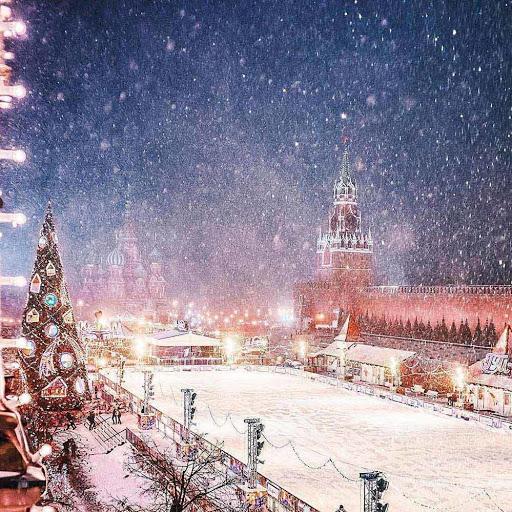 Hình ảnh tuyết rơi về đêm
