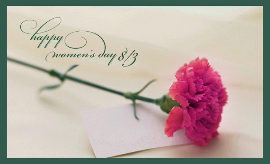 Ảnh chúc mừng ngày mùng tám tháng ba với một nhành hoa