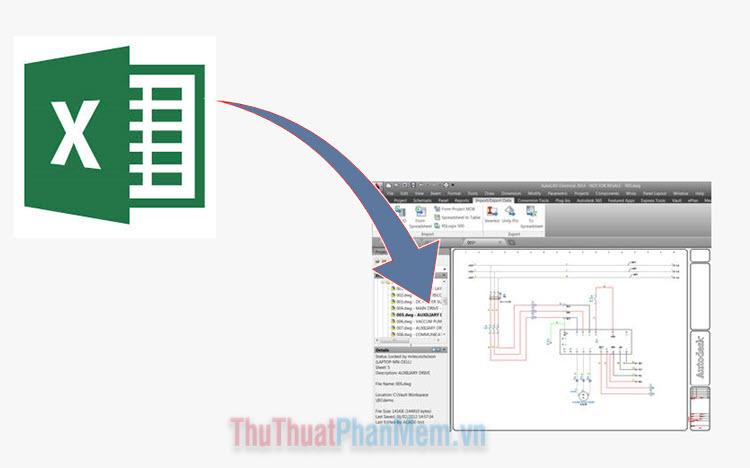 Cách chèn Excel vào CAD nhanh và chuẩn