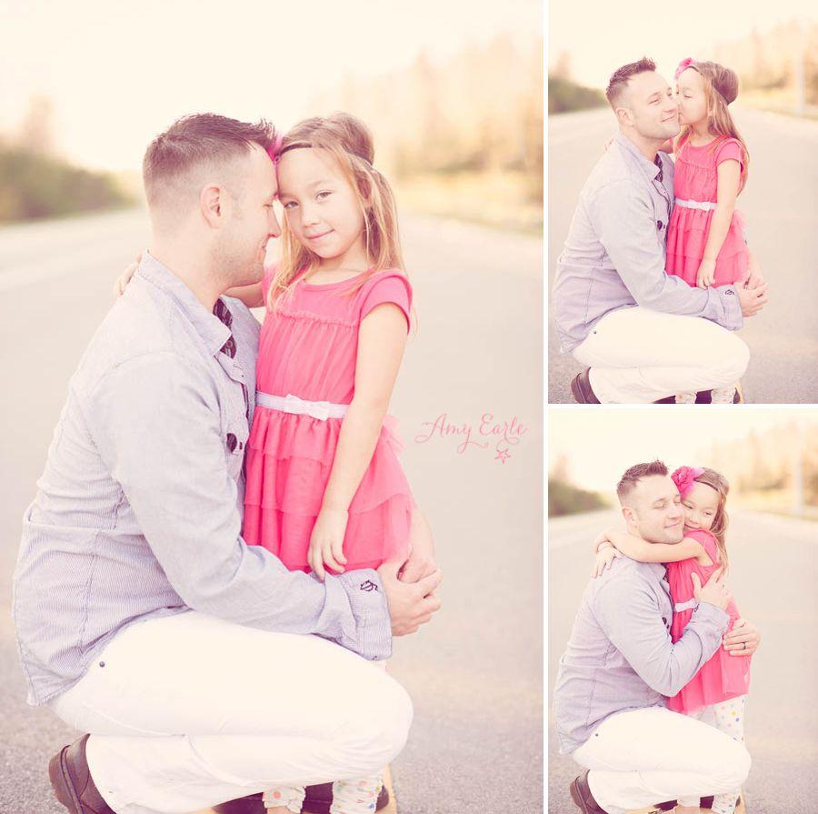 Hình ảnh cha và con gái rất duyên dáng