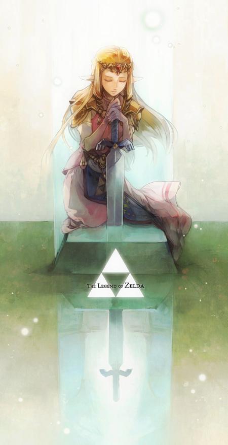 Hình ảnh công chúa tóc vàng cầm kiếm trên ngôi mộ