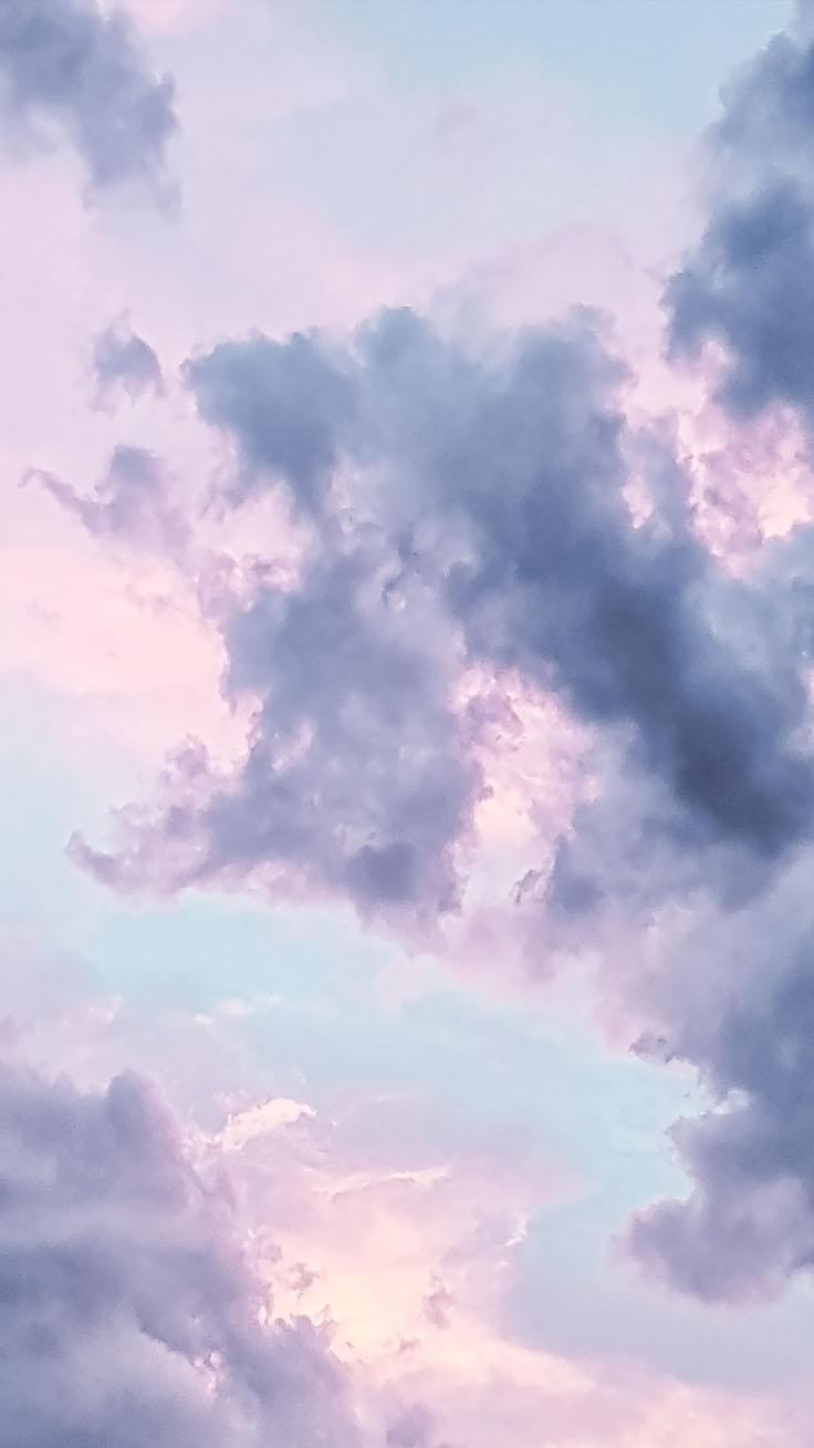 Hình ảnh mây đẹp màu hồng